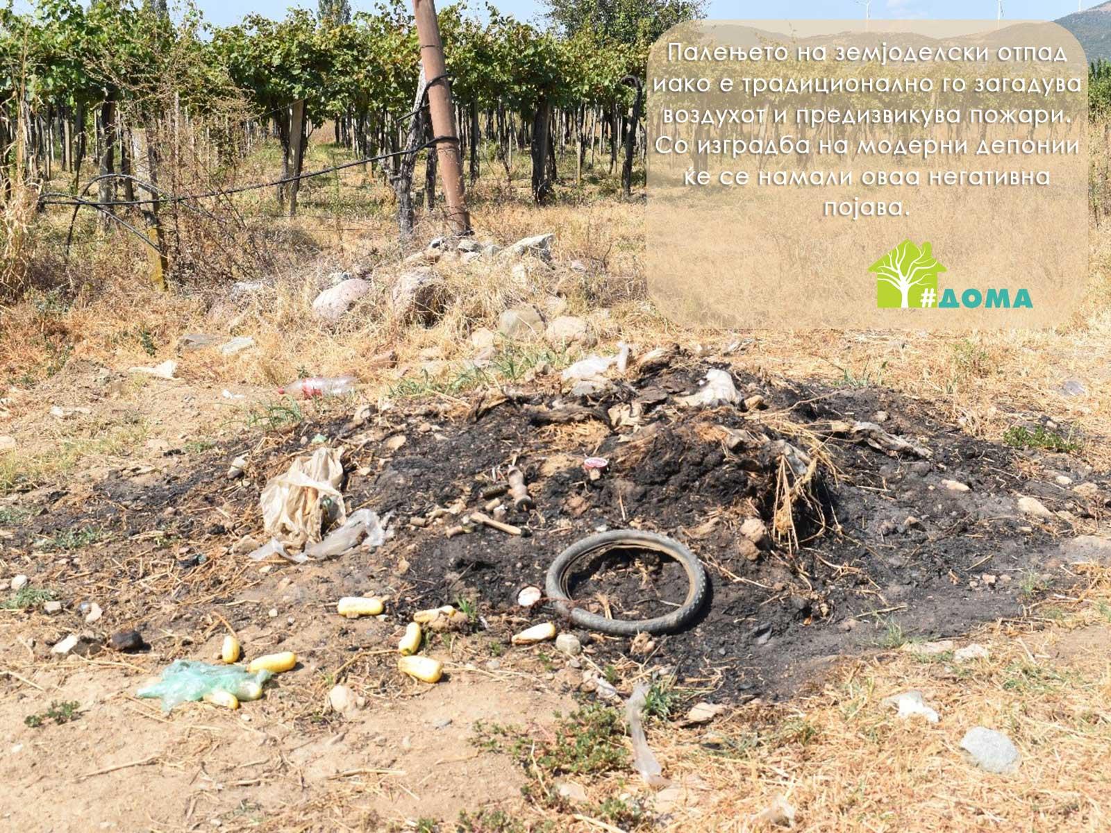Zapaleno gjubre Opasnost od palenje na zemjodelski otpad
